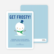 Little Frosty Holiday Cards - Kelly Green