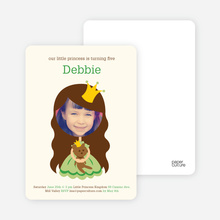 Little Princess Photo Card - Wheat Grass