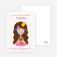Little Princess Photo Card - Pink Princess