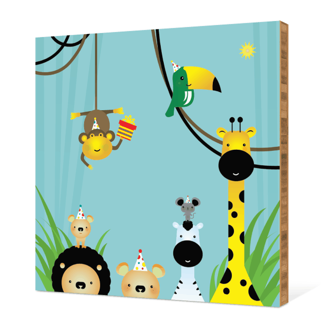 Welcome to the Jungle Bamboo Wall Art - Jungle Mist