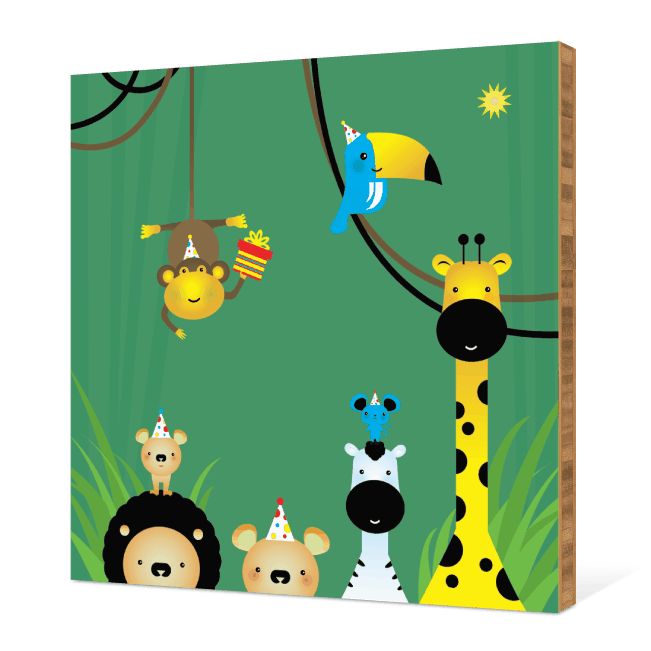 Welcome to the Jungle Bamboo Wall Art - Rain Forest