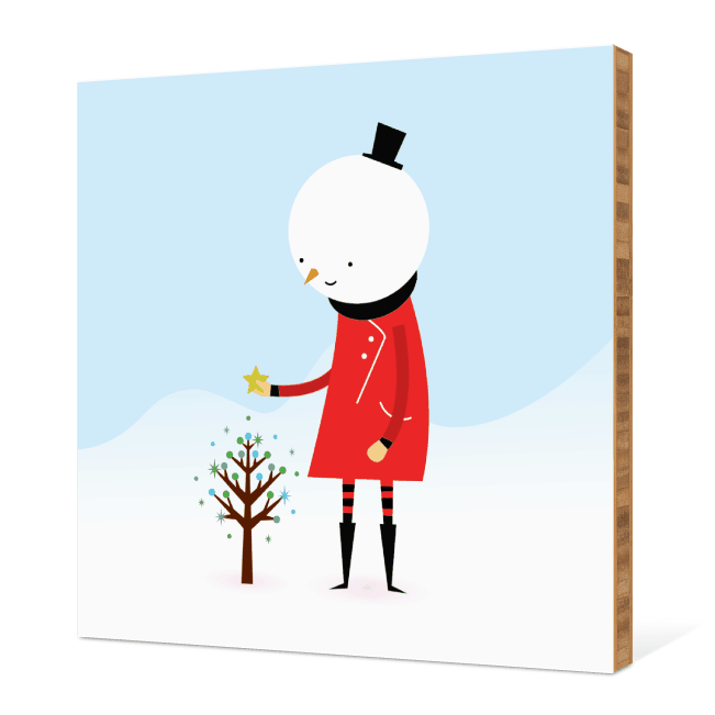 Whimsical Snowman Wall Art - Chili Pepper