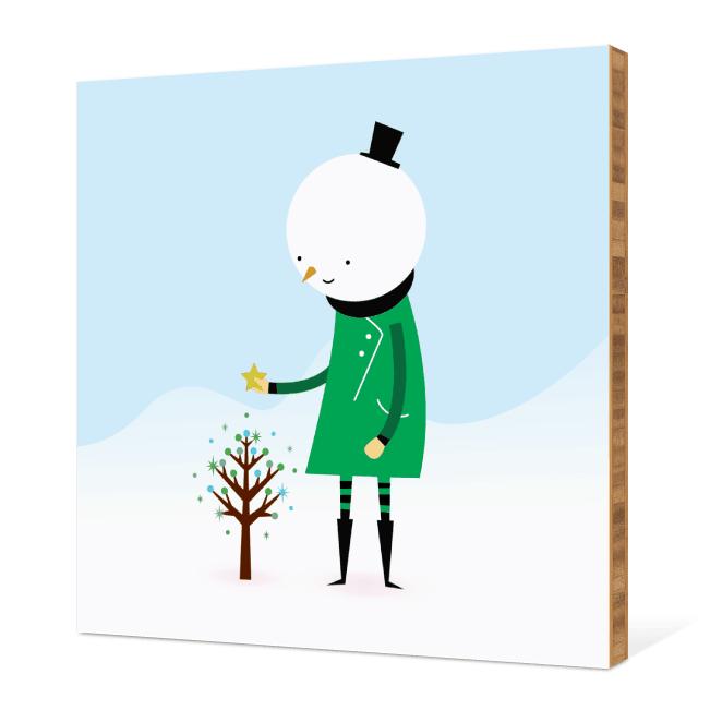 Whimsical Snowman Wall Art - Shamrock