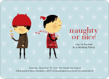 Naughty or Nice Holiday Party Invitations - Glacier