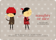Naughty or Nice Holiday Party Invitations - Ash