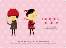 Naughty or Nice Holiday Party Invitations - Cotton Candy