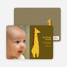 Giraffe Baby Announcement - Dark Olive