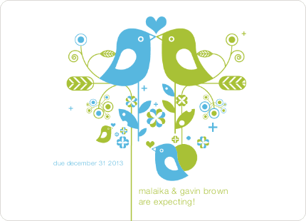 Lovebirds Pregnancy Announcements - Water Fall