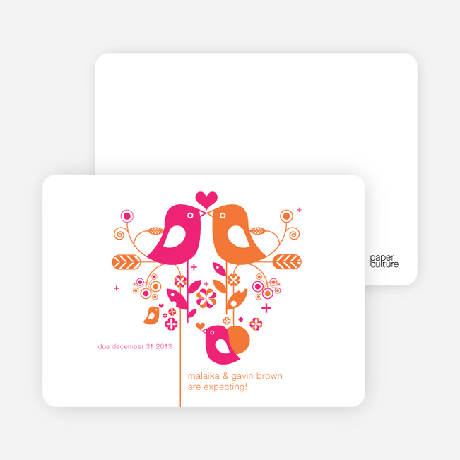 Lovebirds Pregnancy Announcements - Electric Pink
