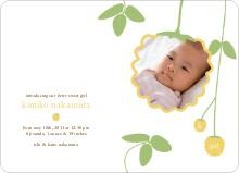 Yellow Raspberry Modern Baby Announcement - Summer Yellow