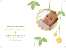 Yellow Raspberry Modern Baby Announcement - Summer Yellow