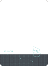 Year of the Ox Baby Announcement: Personal Stationery - Slate Blue