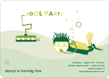 Pool Party - Forest Green