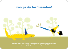 Zoo Birthday Party - Cornflower Blue