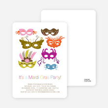 Mardi Gras Party Invitations - Violet