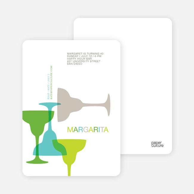 Margaritaville Party Invitation - Teal