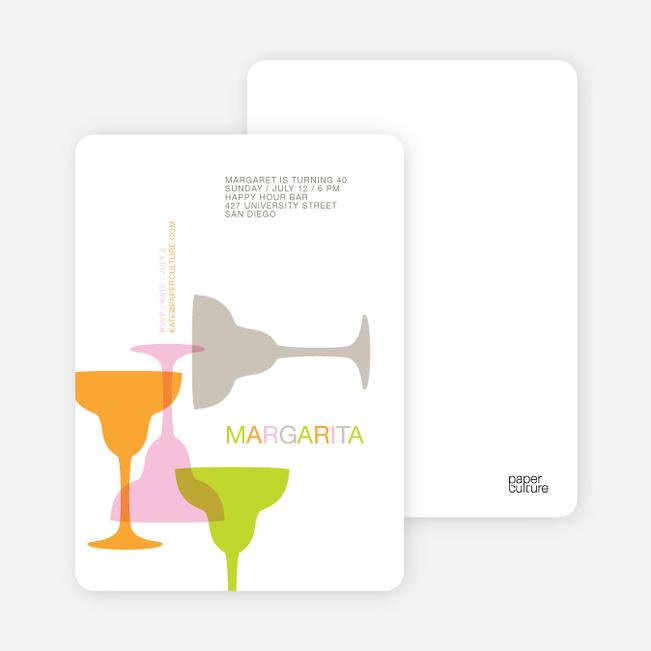 Margaritaville Party Invitation - Bright Orange