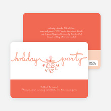 Mistletoe Ribbon - Orange Sherbet