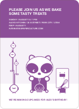 Panda Cupcake Birthday - Purple