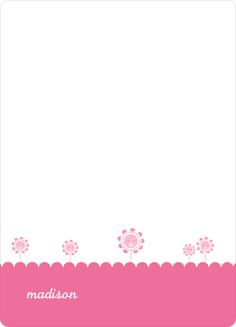 Notecards for the 'Spring Flowers' cards. - Cotton Candy Pink