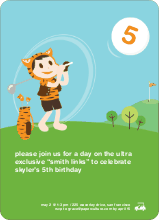 Tiger Golf Invitation - Pumpkin Orange