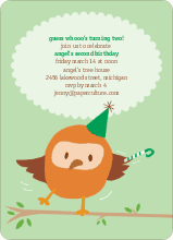 Dancing Owl Party Invites - Fresh Mint
