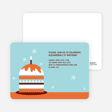 Modern Birthday Cake Invitation - Bright Orange