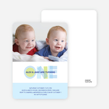 1st Birthday Photo Card - Baby Blue