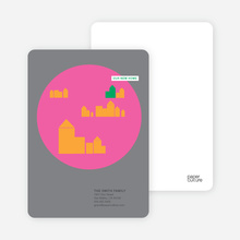 Modern Cityscape - Baked Pink