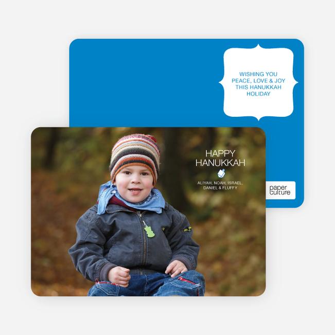 Modern Dreidel Hanukkah Cards - Royal Blue
