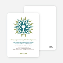 Modern Flower Garden Party Invitations - Teal