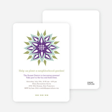 Modern Flower Garden Party Invitations - Magenta