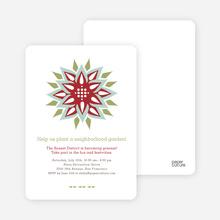 Modern Flower Garden Party Invitations - Sangria