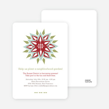 Modern Flower Garden Party Invitations - Sangria