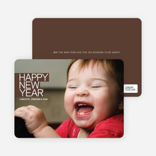 Happy New Year Photo Card - Espresso