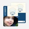 Modern Menorah Chanukah Photo Cards - Cobalt