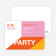 Modern Party Invitations - Spicy Pink