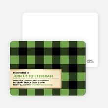 Modern Scottish Plaid Invitations - Celery