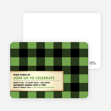 Modern Scottish Plaid Invitations - Celery