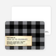 Modern Scottish Plaid Invitations - Silver