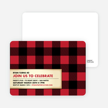 Modern Scottish Plaid Invitations - Strawberry