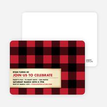 Modern Scottish Plaid Invitations - Strawberry