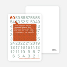 Modern Sixtieth Birthday Party Invitations - Terra Cotta