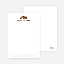 Motorcycle Stationery - Chocolate