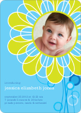 Flower Child Birth Announcements - Spring Water