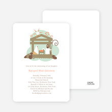 Nativity Scene Holiday Card - Olive
