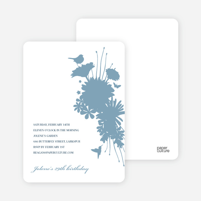 Nature's Bounty Invitation - Pale Blue