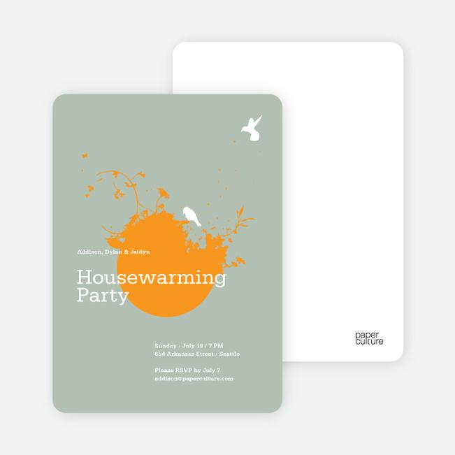 New Nest Housewarming Party Invitations - Pumpkin