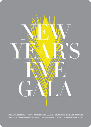 New Year's Eve Gala Party Invitations - Daffodil