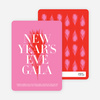New Year's Eve Gala Party Invitations - Fire Engine Red